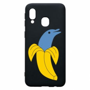 Phone case for Samsung A40 Banana dolphin - PrintSalon
