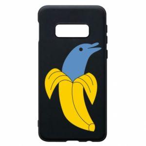 Phone case for Samsung S10e Banana dolphin - PrintSalon