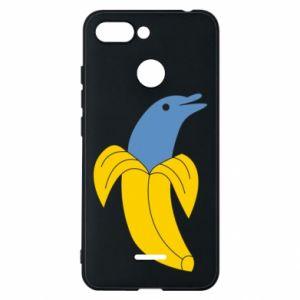 Phone case for Xiaomi Redmi 6 Banana dolphin - PrintSalon