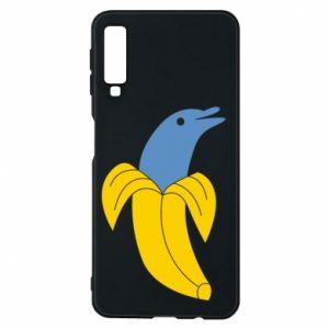 Phone case for Samsung A7 2018 Banana dolphin - PrintSalon