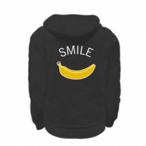 Bluza na zamek dziecięca Banana smile
