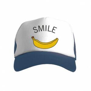 Kid's Trucker Hat Banana smile