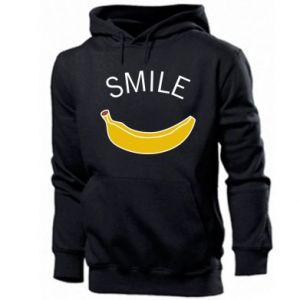Męska bluza z kapturem Banana smile