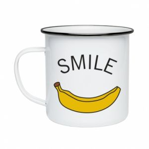 Kubek emaliowane Banana smile