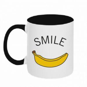 Kubek dwukolorowy Banana smile