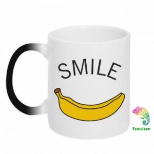 Kubek-kameleon Banana smile
