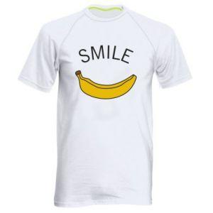 Men's sports t-shirt Banana smile