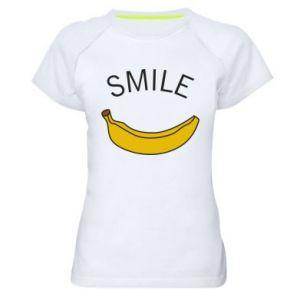 Damska koszulka sportowa Banana smile