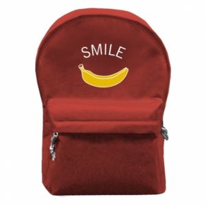Backpack with front pocket Banana smile