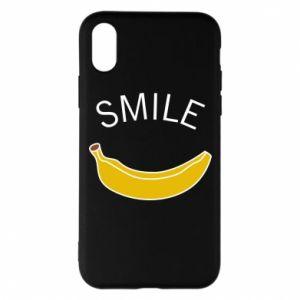 Etui na iPhone X/Xs Banana smile