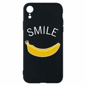 Etui na iPhone XR Banana smile