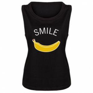 Damska koszulka bez rękawów Banana smile