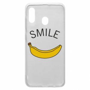 Etui na Samsung A20 Banana smile