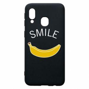 Etui na Samsung A40 Banana smile