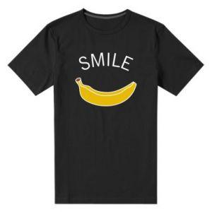 Męska premium koszulka Banana smile