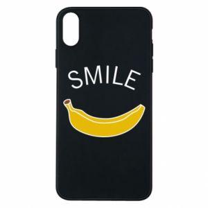 Etui na iPhone Xs Max Banana smile