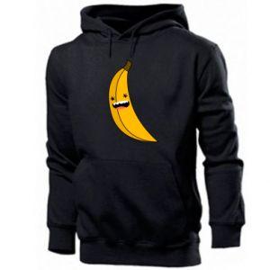 Men's hoodie Banana smile stars
