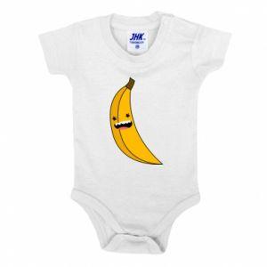 Baby bodysuit Banana smile stars