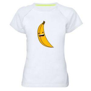 Women's sports t-shirt Banana smile stars