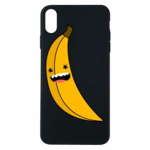 Phone case for iPhone Xs Max Banana smile stars