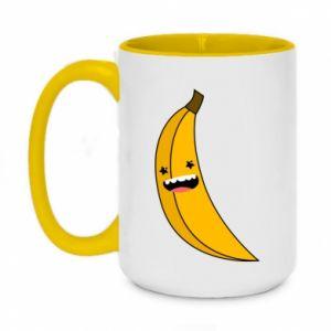 Kubek dwukolorowy 450ml Bananowe gwiazdy uśmiechu