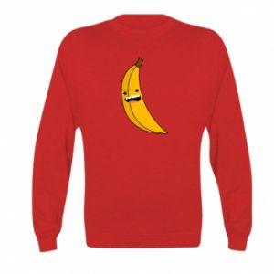 Kid's sweatshirt Banana smile stars