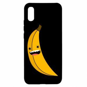 Xiaomi Redmi 9a Case Banana smile stars