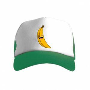Kid's Trucker Hat Banana smile stars