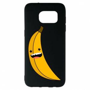 Samsung S7 EDGE Case Banana smile stars