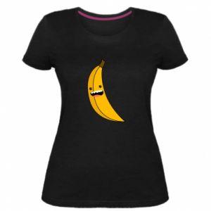 Women's premium t-shirt Banana smile stars