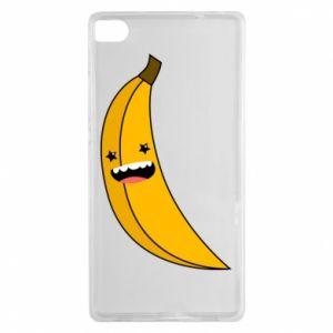 Huawei P8 Case Banana smile stars