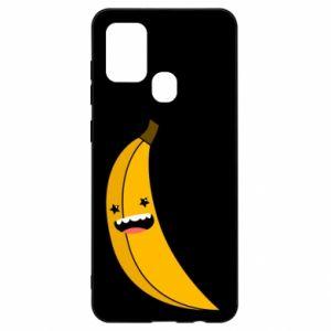 Samsung A21s Case Banana smile stars