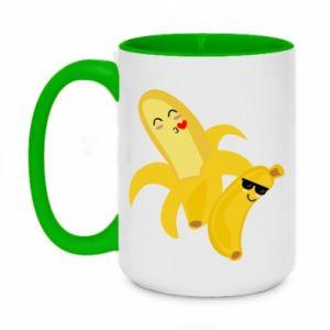 Two-toned mug 450ml Bananas