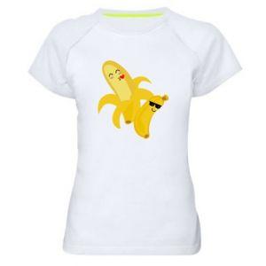 Damska koszulka sportowa Banany - PrintSalon