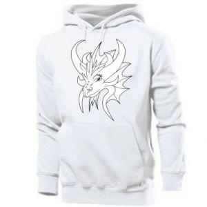 Men's hoodie Very big dragon