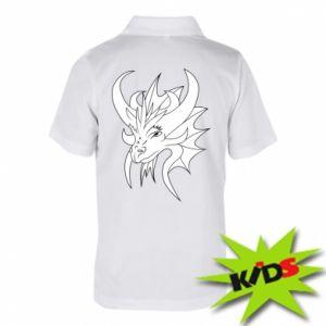 Dziecięca koszulka polo Bardzo duży smok