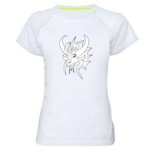 Koszulka sportowa damska Bardzo duży smok