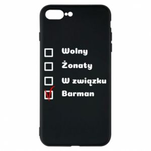 Phone case for iPhone 8 Plus Barman - PrintSalon