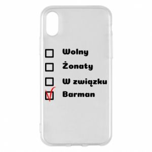 Phone case for iPhone X/Xs Barman - PrintSalon