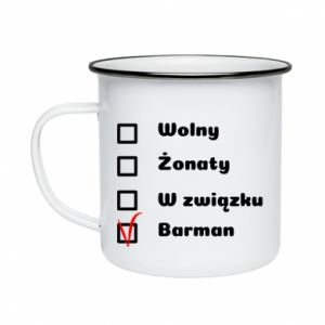 Enameled mug Barman - PrintSalon