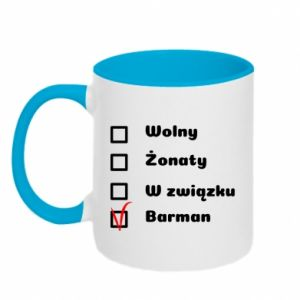 Two-toned mug Barman - PrintSalon