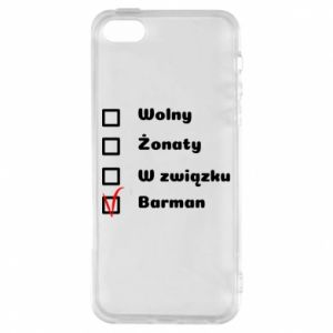 Phone case for iPhone 5/5S/SE Barman - PrintSalon
