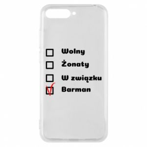 Phone case for Huawei Y6 2018 Barman - PrintSalon