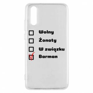 Phone case for Huawei P20 Barman - PrintSalon
