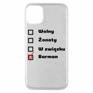 Phone case for iPhone 11 Pro Barman - PrintSalon