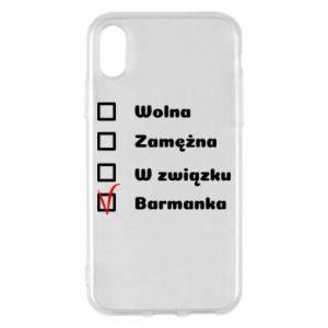 Phone case for iPhone X/Xs Barmaid, for her - PrintSalon