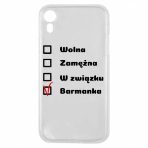 Phone case for iPhone XR Barmaid, for her - PrintSalon