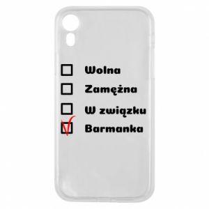 Etui na iPhone XR Barmanka
