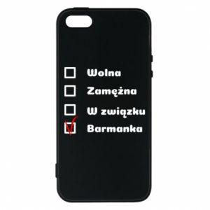 Phone case for iPhone 5/5S/SE Barmaid, for her - PrintSalon