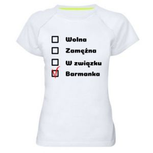 Damska koszulka sportowa Barmanka